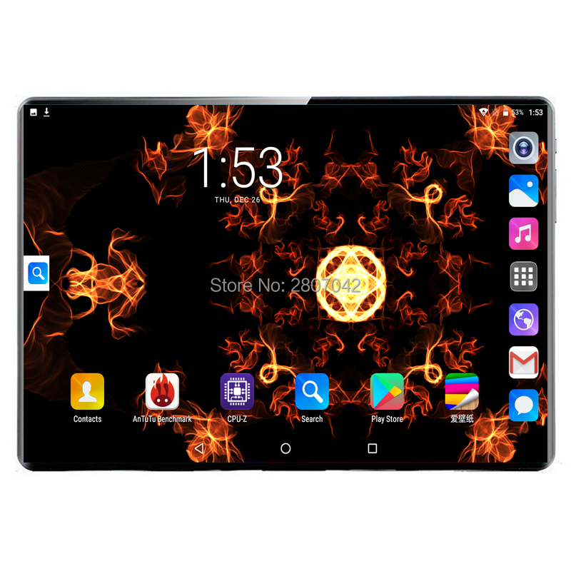 Fast Shipping Android 9.0 Deca Core 10 Inch Tablet PC 8GB RAM 128GB ROM 8MP WIFI A-GPS 3G 4G LTE 2.5D Tempered Glass IPS 10.1