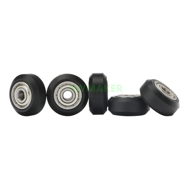 5pcs Track D pulley, dual bearing POW material for Anycubic I3 Mega / Mega S Chiron 3D printer parts image