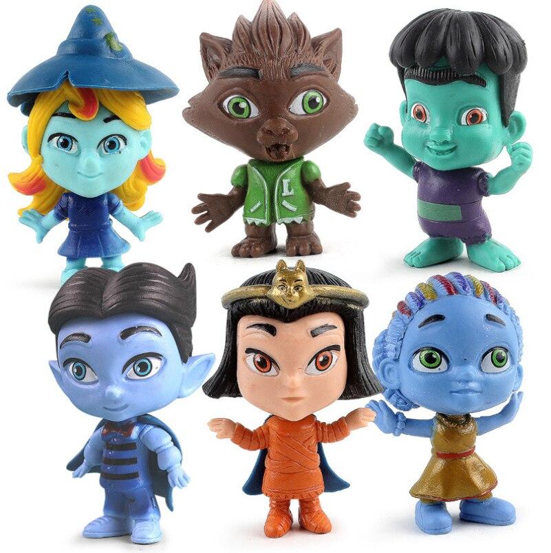 9 centímetros Super Figura de Ação Monstros Brinquedos Do Bebê 6 pçs/lote Jogo Super Modelo Monstros PVC Bonecas Brinquedos de Mesa Decoração Caçoa o Presente