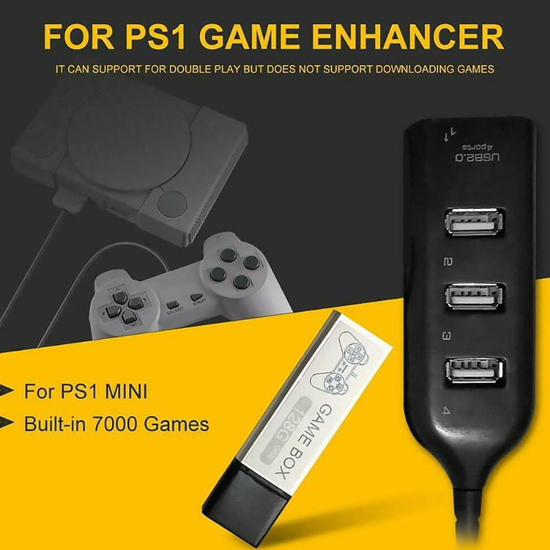 128G Game Enhancer Source Simulator Expansion Pack Built-in 7000 Games for PS1 Mini DN Game Box Accessories Mini Game Enhancer