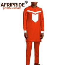 Одежда в африканском стиле для мужчин комплект из рубашки и