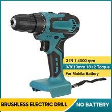 10mm 90Nm Cordless Brushed Electric Drill Mini Screwdriver DIY Wood Metal Power Tools