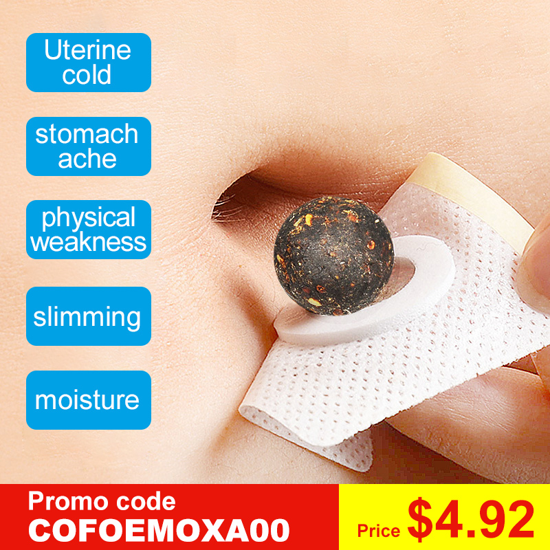 Cofoe 30pcs Moxibustion Moxa Navel Sticker Warm Uterus And Stomach Foot Moxa Paster Health Care For Female