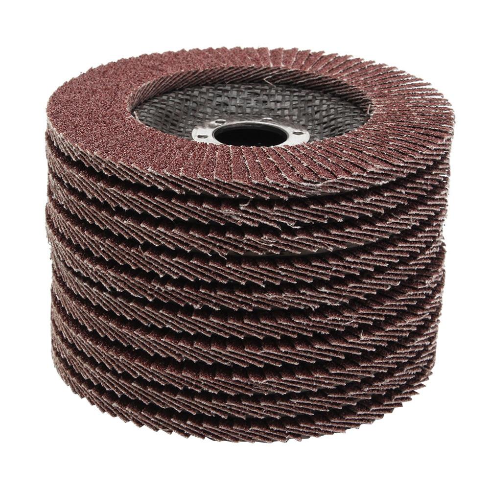 10pcs 100mm Flap Discs 80 Grit Grinding Wheels Blades for Angle Grinder Sanding Disk Grinding Wheel Abrasive Tools