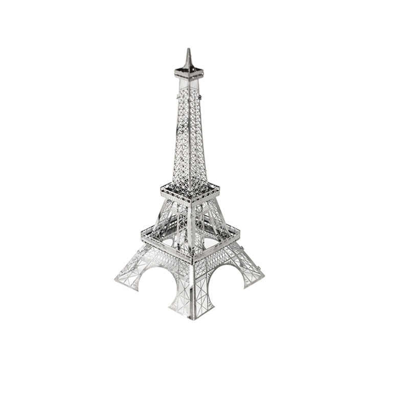 legoings DIY Handmade 3D Metal Stereo Model Insertion and Assembly Toy Creative Puzzle Toys for Aircraft Eiffel Tower