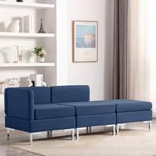 Ensemble de canapé Central sectionnel moderne 3 pièces de conjonction canapé-lit meubles canapés d'angle pour salon chambre canapé en tissu