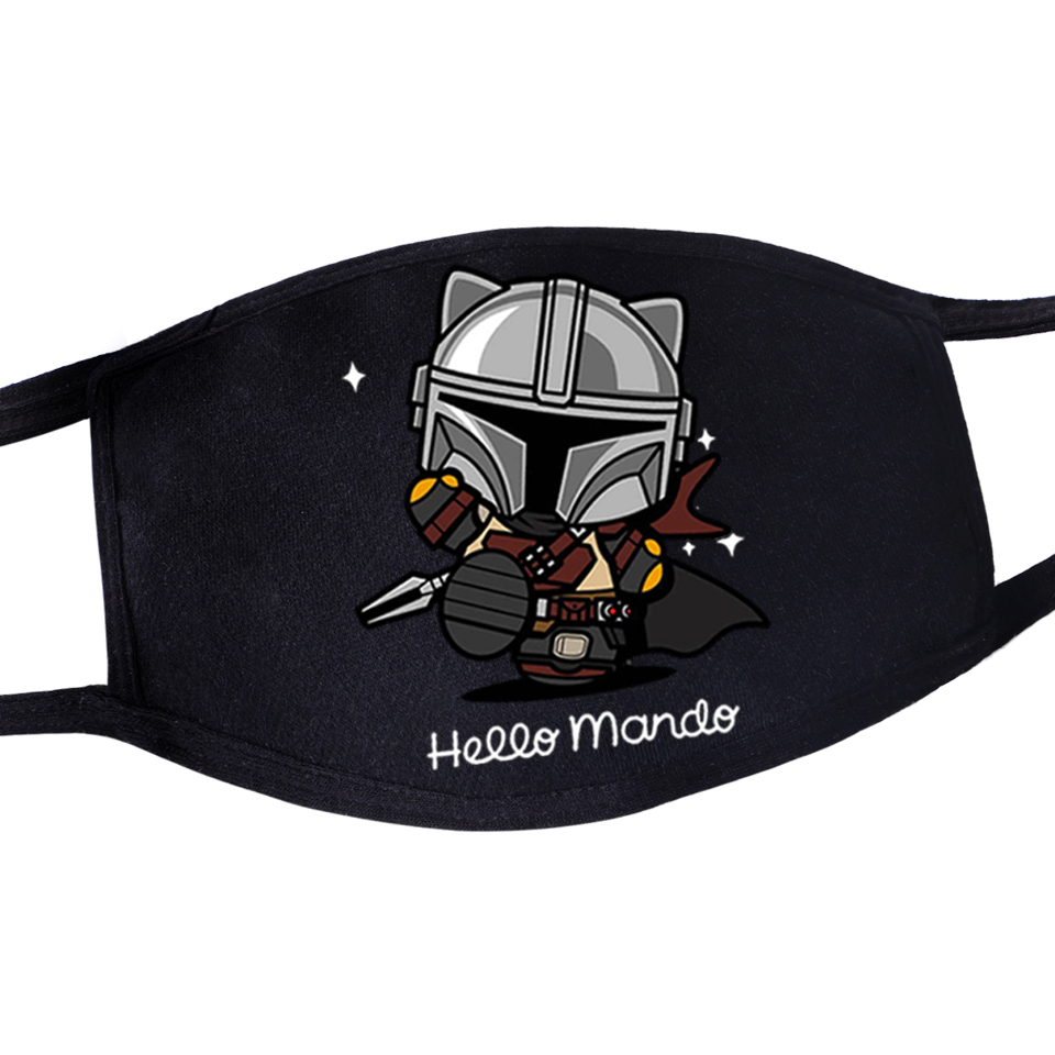 Movie Star Wars Maseczki Graphic Mouth Mask Masque Baby Mandalorian Anti Dust Masker Washable Reusable Windproof Dustproof
