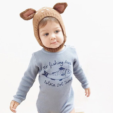 Deer Ear Cute Baby Winter Hat For Kids Double Side Adjustable Knitted Warm Hats Beanies Caps Hair Accessories