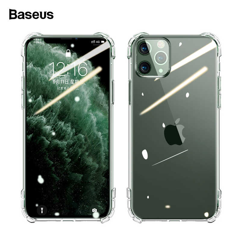 Baseus Transparant Soft TPU Siliconen Telefoon Case Voor iPhone 11 Pro Max 11Pro Ultra Dunne Slim Clear Shockproof Cover Voor iPhone 11 Pro Xs Max Xr X Coque Fundas
