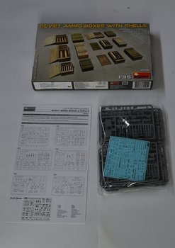 Miniart 35261 1/35 Scale Soviet Ammo Boxes with Shells (w/ Decal) Display Collectible Toy Plastic Assembly Model Kit недорого
