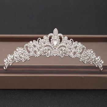 Wedding Crown Hair Jewelry Bridal Headpiece woman Baroque Rhinestones Crystal Tiaras Bride Party Crowns Wedding Hair Accessories 5