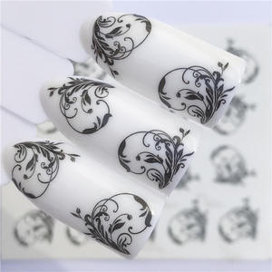 Image 1 - LCJ 32 Styles Available  Flower Nail Stickers Water Transfer Decals Decoration Dream Cather Slider For Nail DIY Tips