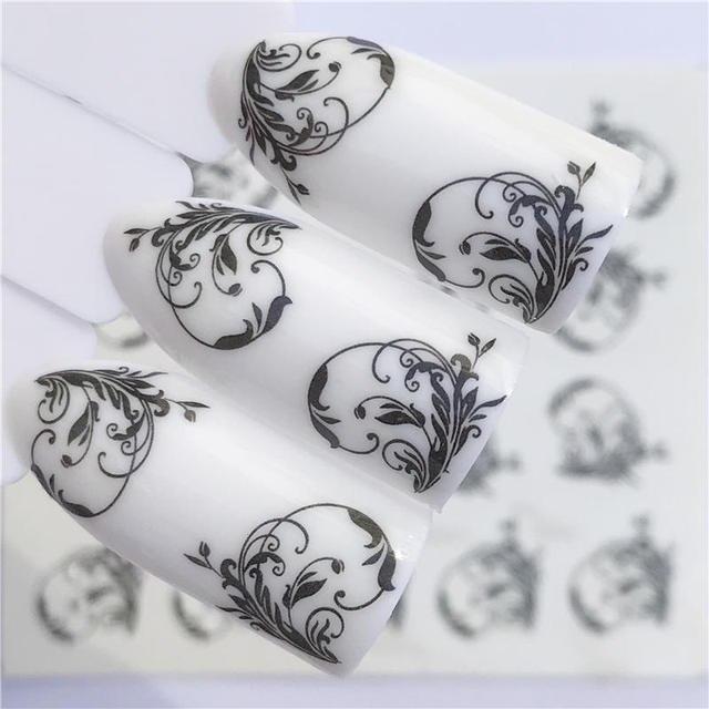 LCJ 32 Styles Available  Flower Nail Stickers Water Transfer Decals Decoration Dream Cather Slider For Nail DIY Tips