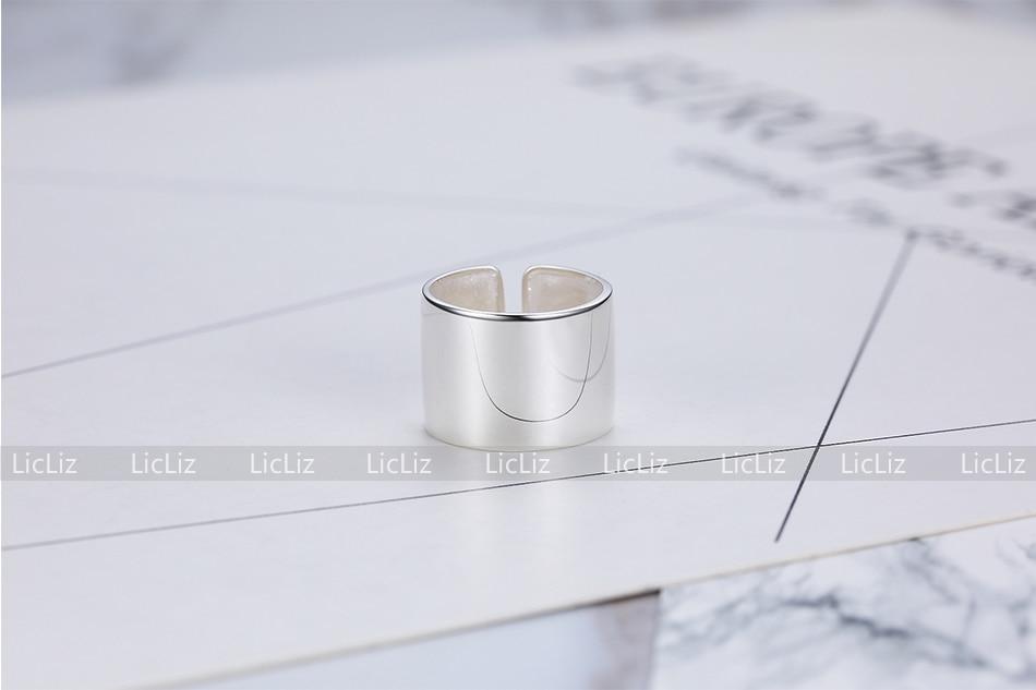 H41ada9816a4641d8b564b6d6cb434797L LicLiz 2019 925 Sterling Silver Big Open Adjustable Ring for Women Men Plain White Gold Jewelry Joyas de Plata 925 Bijoux LR0329
