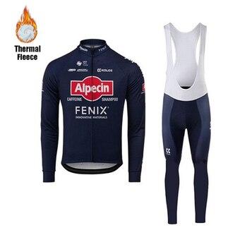 Alpecin Fenix-ropa de invierno de terciopelo, traje de Ciclismo de manga larga,...
