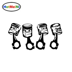 Стикеры для автомобилей HotMeiNi, 20 см х 10 см, маленькие виниловые отражательные наклейки для автомобилей