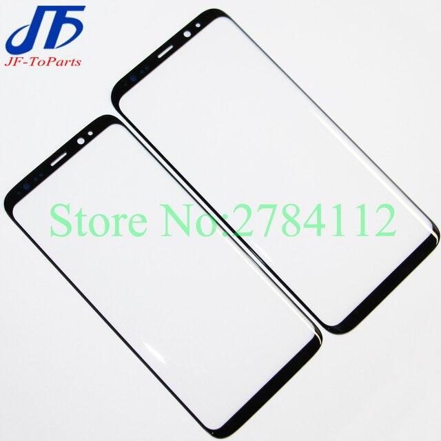 "10 stuks Touch panel Vervanging Voor Samsung Galaxy S8 G950 G950F 5.8 ""/S8 + Plus G955 6.2"" zwarte Voorkant Outer Glas OCA Lens Cover"