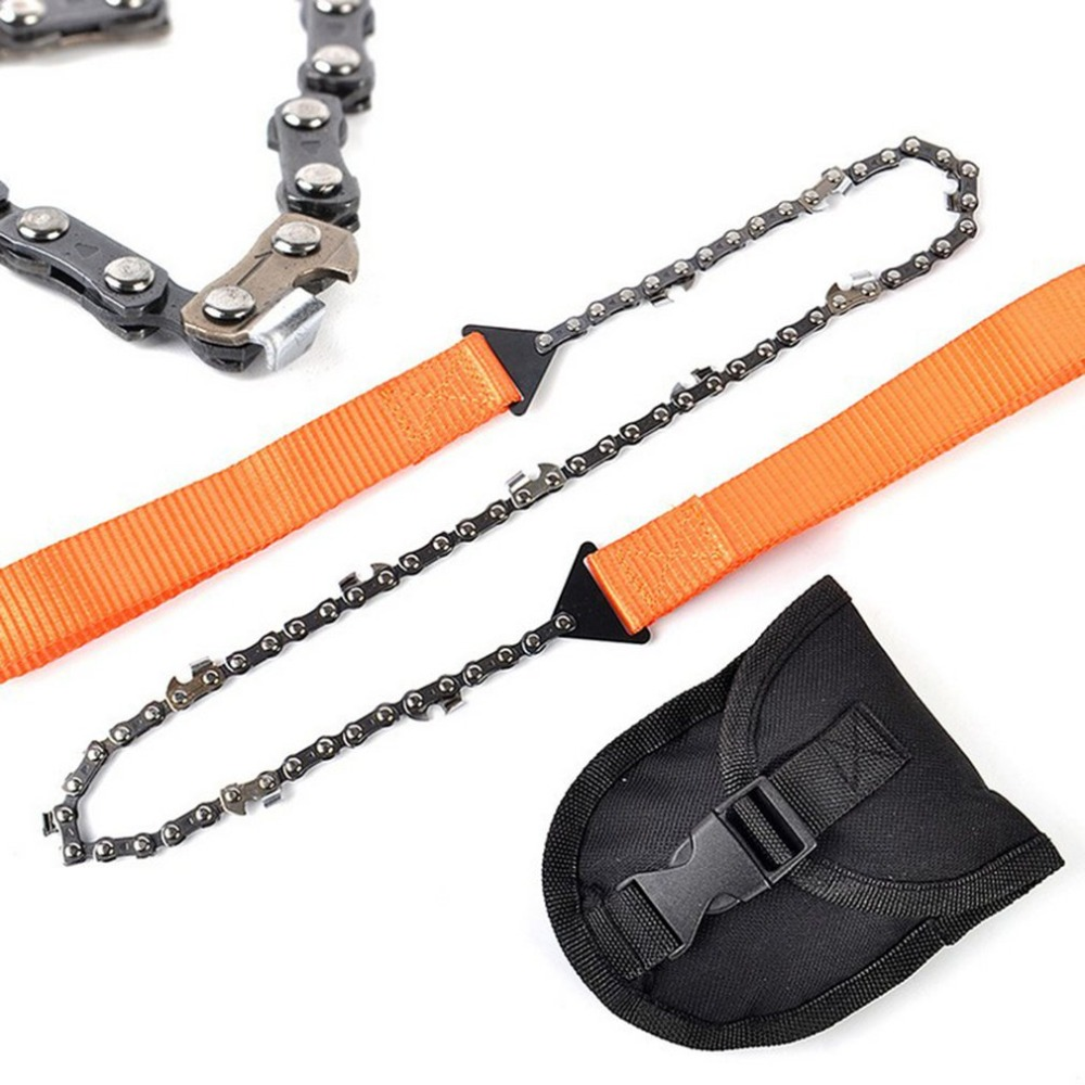 Portable Chain Hand Saw Outdoor Survival Woodworking Hand Tool EDC Gear CB
