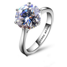 QYI Halo Rings For Women 4 Ct Solitaire Wedding Rings 925 Silver Round Cut SONA Stone Engage Rings Engagement