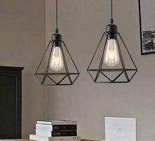 Lampe suspendue en fer forgé au design industriel moderne et Vintage, Luminaire décoratif d'intérieur, idéal pour un salon ou une cuisine