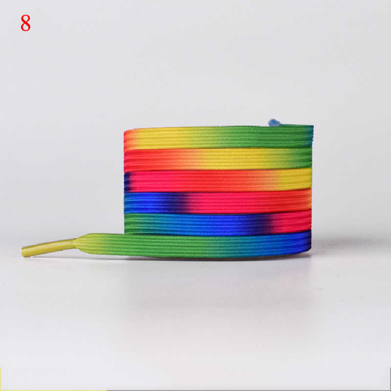 1 para gradientu kolorowe kamuflaż elastyczne sznurówki trampki darmowe wiązane gumowe buty koronki elastyczne leniwy sznurowadła kobiety mężczyźni