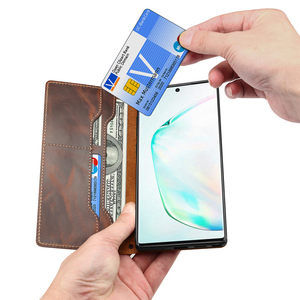 Image 3 - עבור Coque סמסונג הערה 20 במיוחד S20 בתוספת הערה 10 S10 אמיתי עור Flip ארנק אצבע רצועת גריפ כיסוי מקרה עבור Samsung S20 Funda