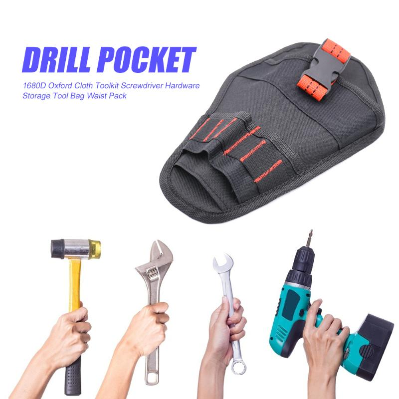 Hardware Toolkit Storage Tool Bag Exquisite Craftsmanship Sturdy Durable 1680D Oxford Cloth Organizer Pouch Waist Pack