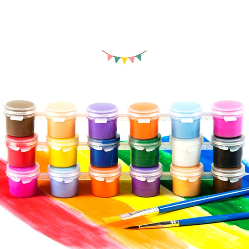 1 Set 3ml/5ml Hand-painted Acrylic Paint Children Safe Painting Pigments Kindergarten DIY Art Graffiti Pigment Set