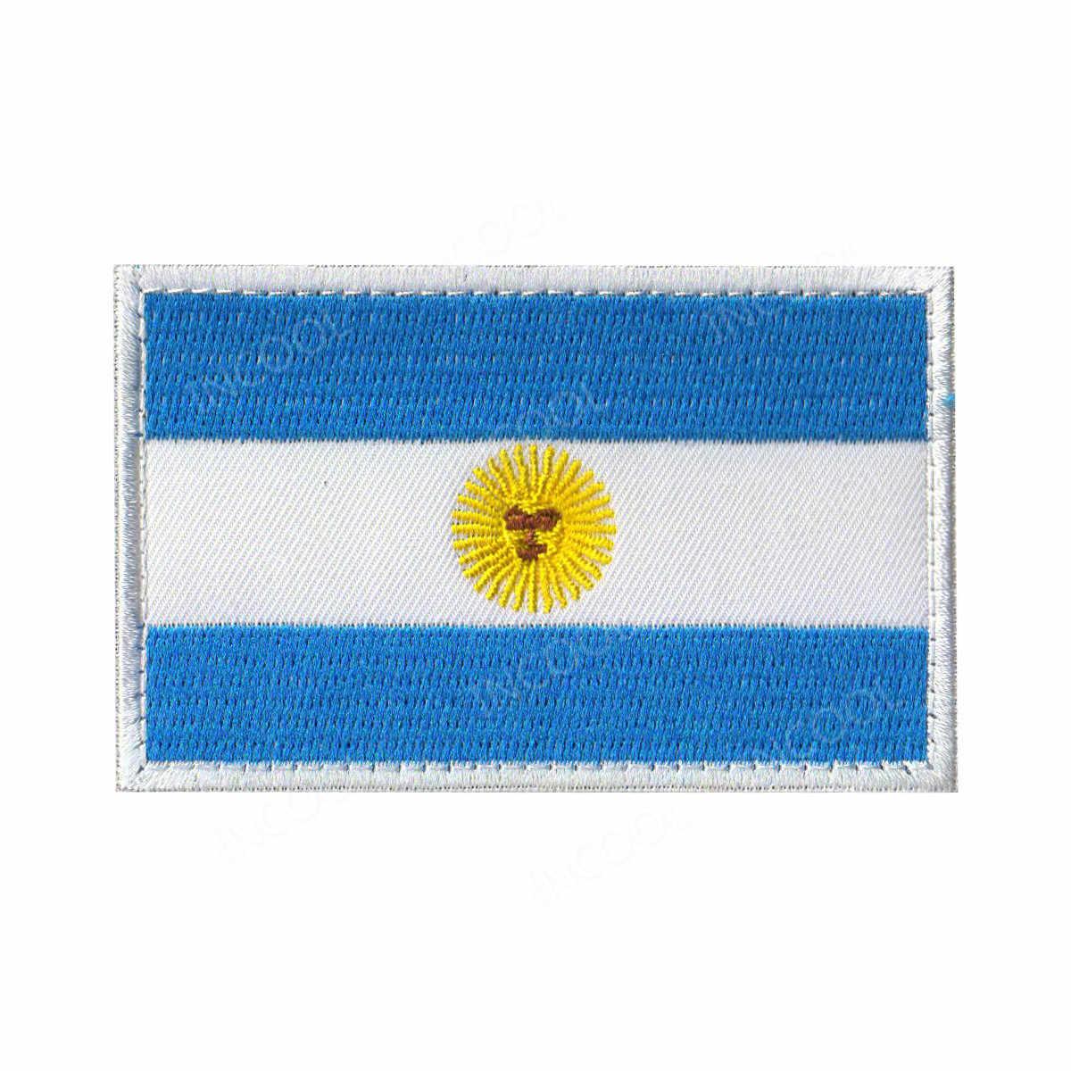 Amerika ülke bayrakları meksika porto riko arjantin amerika birleşik devletleri kanada brezilya El Salvador işlemeli yamalar rozetleri toptan