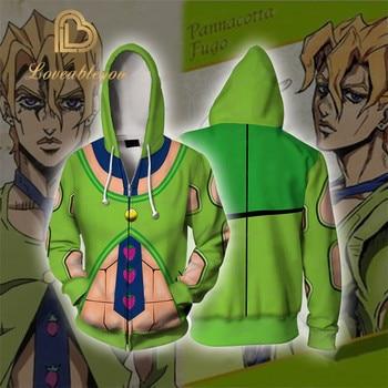 Anime JoJos Bizarre Adventure Hoodie Sweatshirt JoJo Thin Hoodies Casual Zipper Hooded Tops Coat Outfit for Men Boys