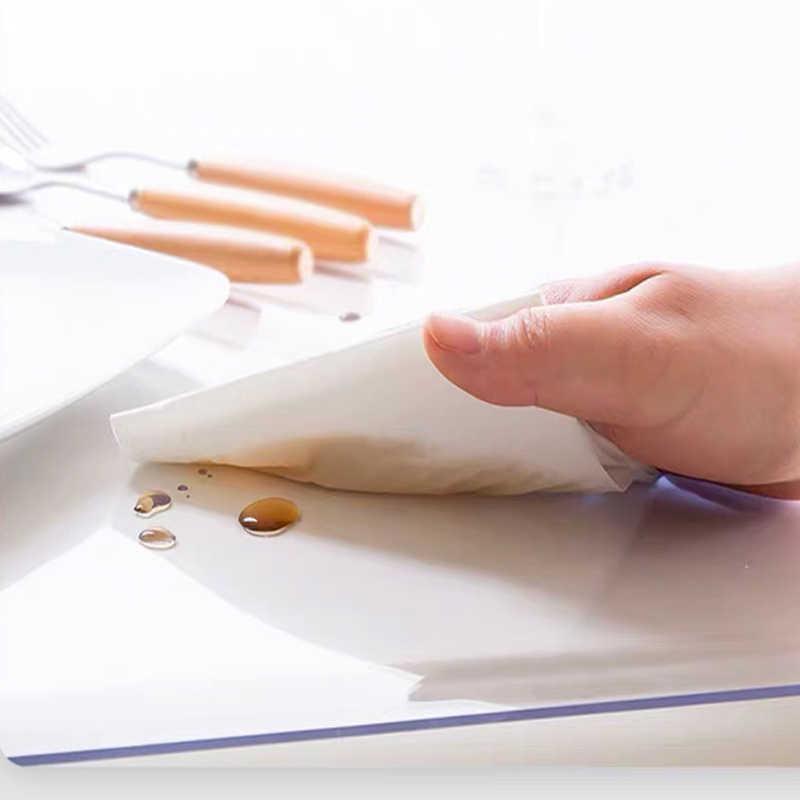 1.5mm PVC שקוף מפת שולחן מלבן עמיד למים שולחן כיסוי Oilproof מפות שולחן זכוכית רכה בד מטבח קישוט