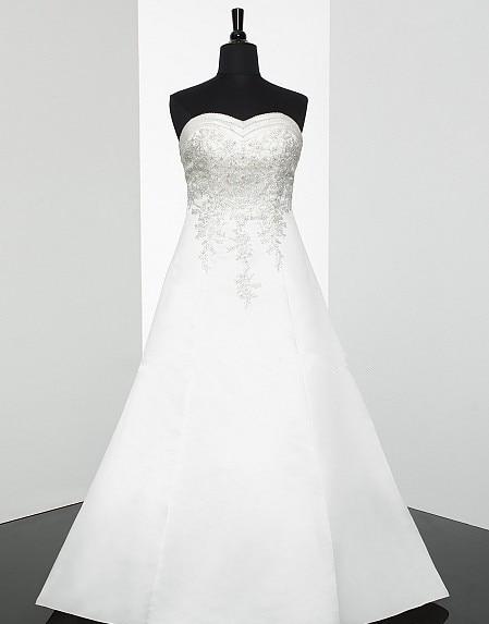 A-line Sweetheart Neckline Open Back Features Re-embroidered Lace Split Train Lace Applique Corset Closure Ties Wedding Dress