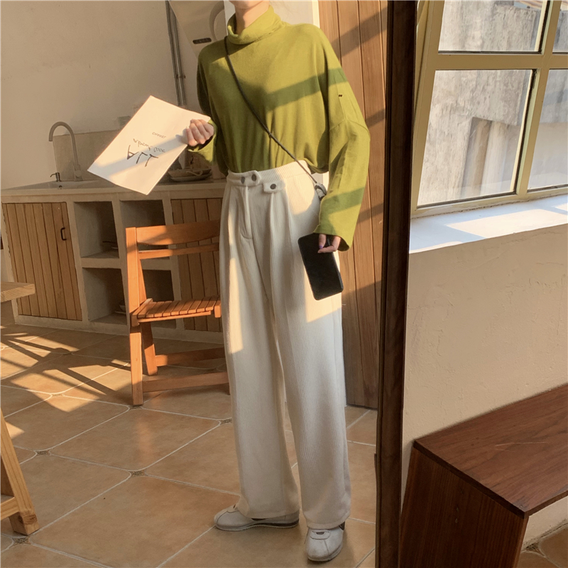 H41aee2682a6546a9ad7502d1144d5760t - Autumn / Winter Korean Corduroy Loose Solid Pants