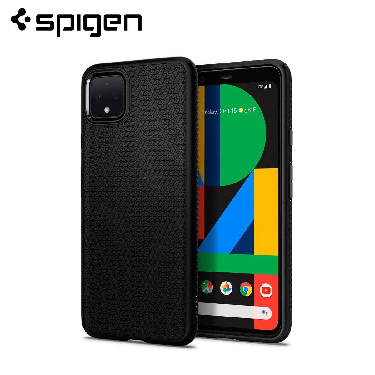Чехол Spigen Google Pixel 4 XL / Pixel 4, матовый черный гибкий Мягкий Нескользящий чехол из ТПУ|Специальные чехлы|   | АлиЭкспресс