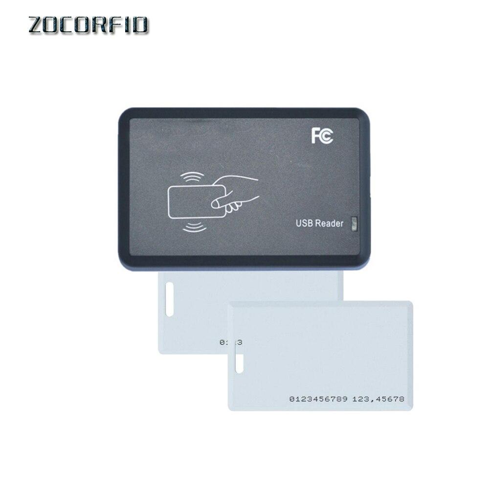 15kinds Format USB Port EM4001 125khz RFID ID Contactless Sensitivity Smart Card Reader Support Window System Linux