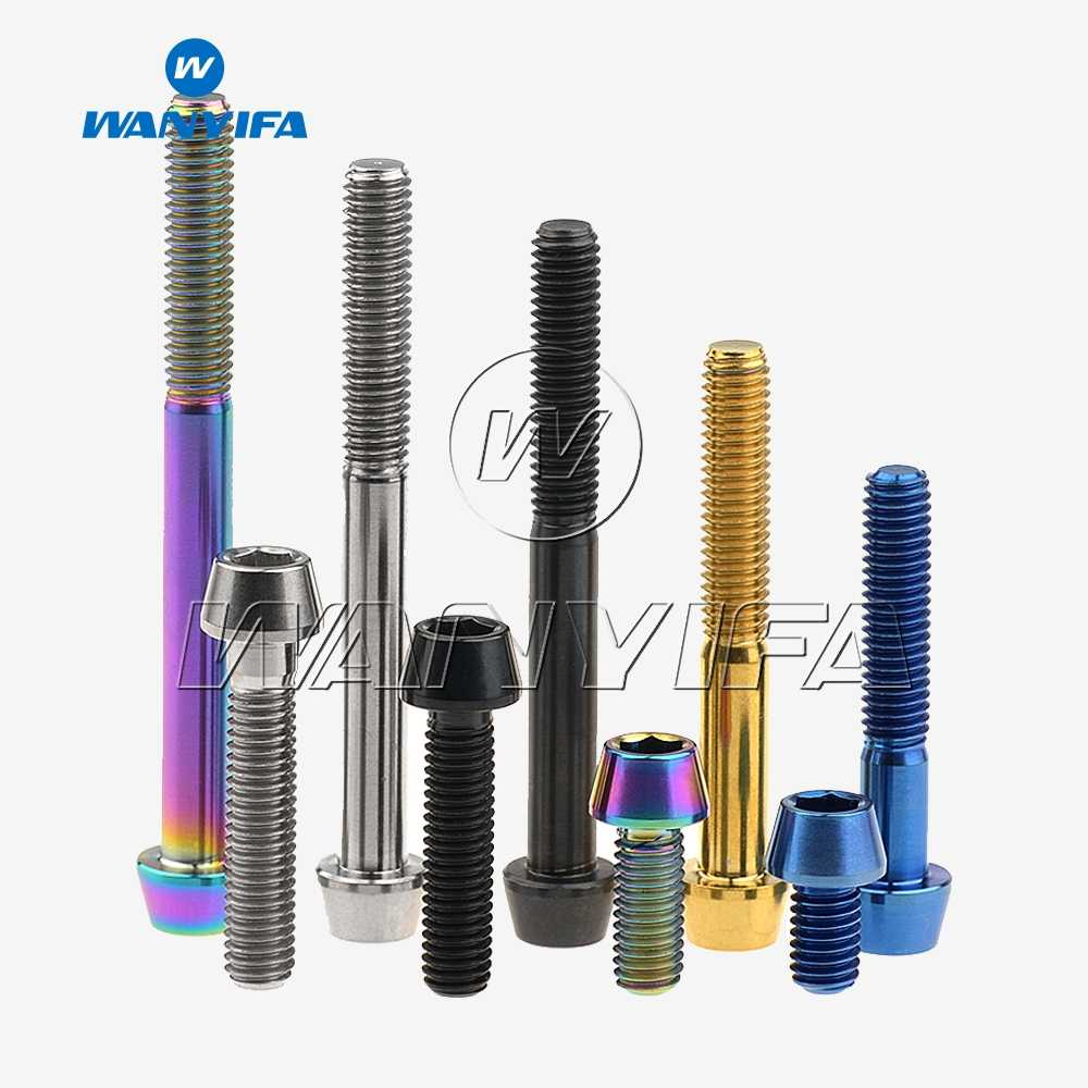 M6 Titanium Ti Bolts Socket Cap Allen Head 30 35 40 45 50 55 60 65mm x 1.0 Pitch