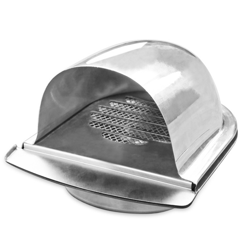 Stainless Steel Ventilation Hood N External Extractor Wall Vent Outlet Air Vent Grill Cover For Ventilation (100mm)