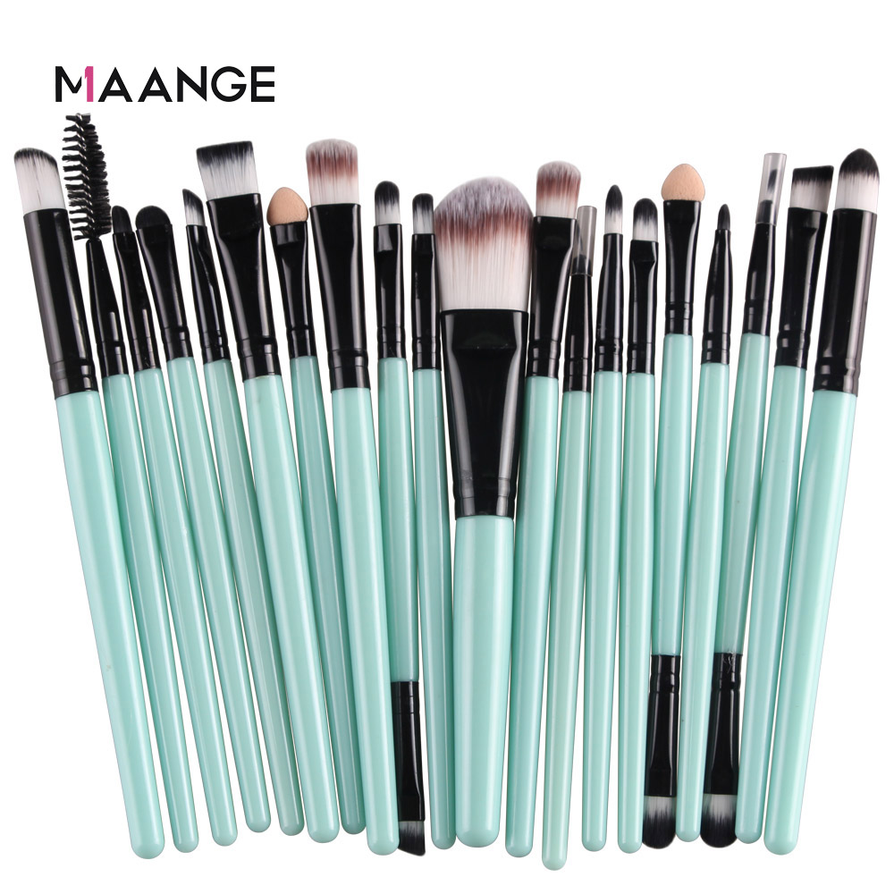 MAANGE 6/15/20 Pcs Makeup Brush Set Eyeshadow Blending Foundation Powder Eyebrow Blush Double Head Brush Beauty Make Up Kit Tool 5