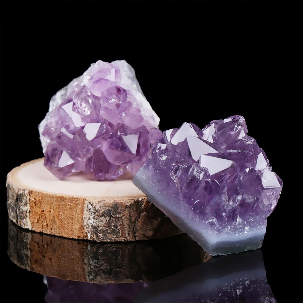1 шт. натуральный аметист кварц кластера образец кристаллического минерала целебные камни подарок грубая руда география обучение мечта дом...