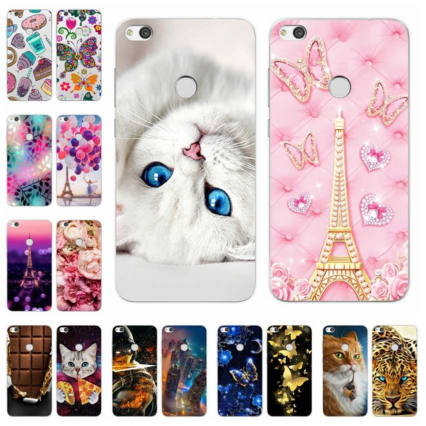 "Case for Huawei Honor 8 lite 5.2"" Printing Cute Painted Soft Silicone Back Case Cover FOR Coque Huawei Honor 8 Lite capa Bumper"