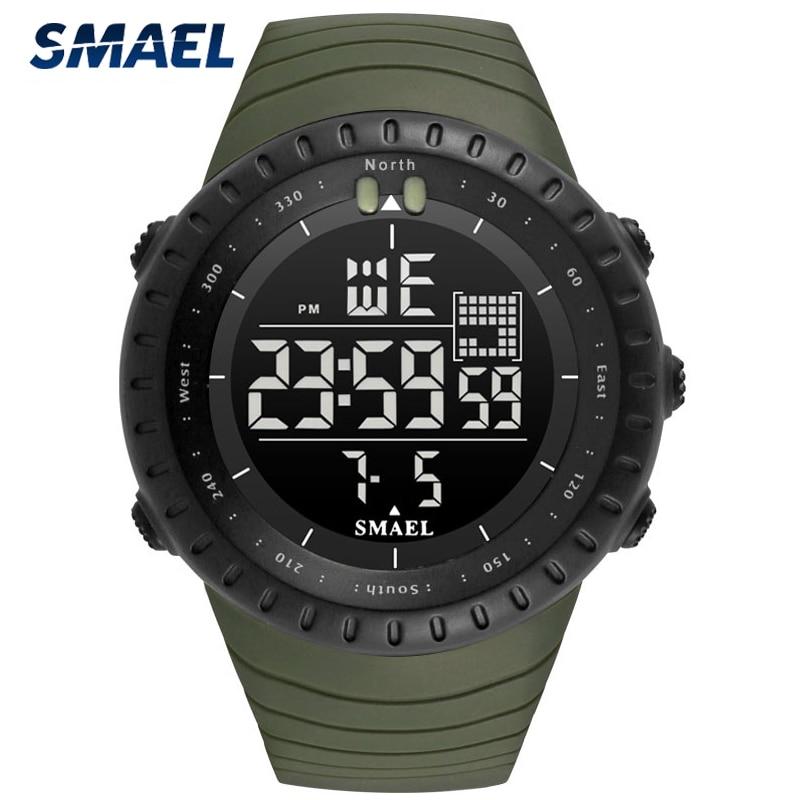 SMAEL Luxury Brand Watch Men Military Sport Men's LED Digital Watches Reloj Hombre Wristwatch Mens Gift Relogio Masculino WS1237