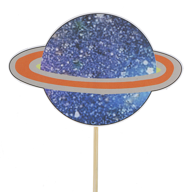 Outer Space Party Astronaut Rocket Ship Theme Foil Balloons Galaxy/Solar System Party Cake Toppers Boy Birthday Supplies-4