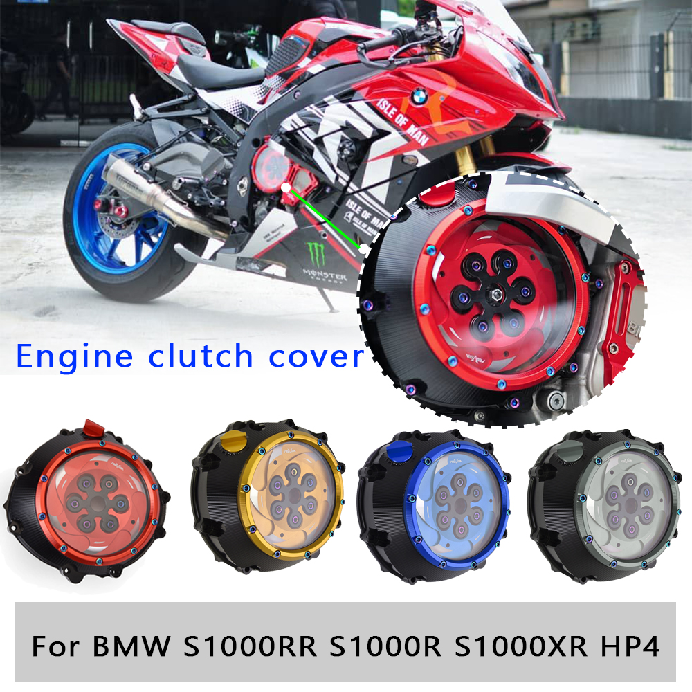 Clear Clutch Cover Guard Spring Retainer Transparent Engine Protector for <font><b>BMW</b></font> S1000RR HP4 <font><b>S1000R</b></font> S1000XR 2015 2016 2017 <font><b>2018</b></font> 19 image