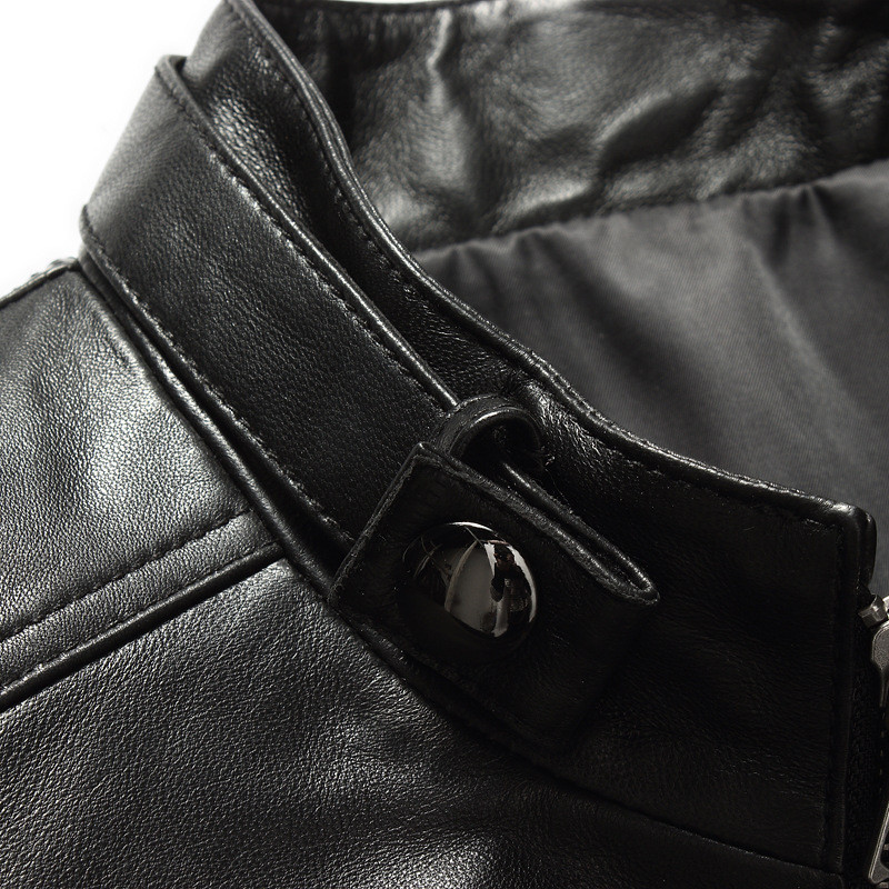 Jackets Leather Genuine Black Sheepskin Leather Jacket Men Coat High Quality Autumn Winter Mens Leather Jackets FYY578 S