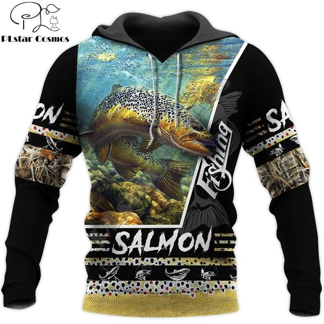 Beautiful Salmon Fishing hoodie unisex