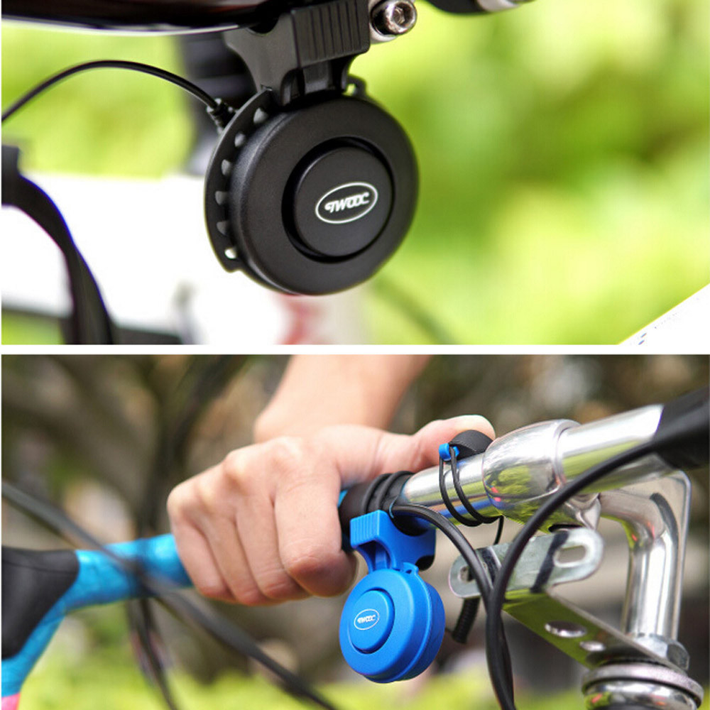 3 Modes Voice Rainproof Cycling Horn MTB Bicycle Handlebar Bell Silicone