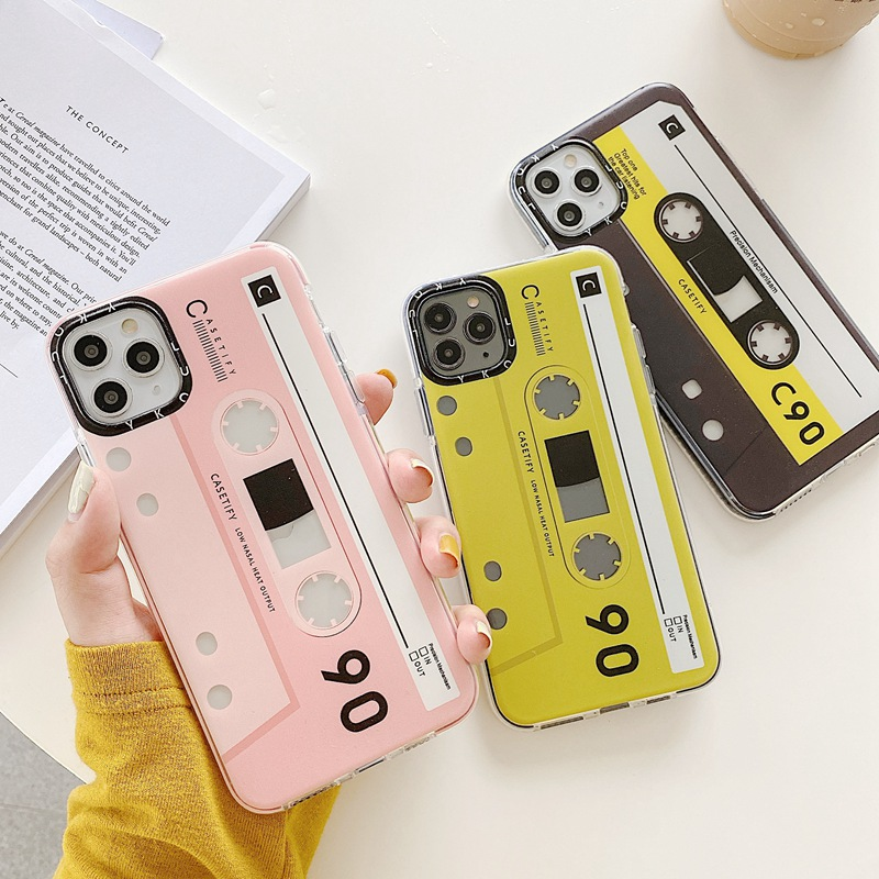 Audio Cassette Painted Mobile Phone Case For Redmi K30 K20 NOTE8 7 S 9T PRO POCOX2 For Xiaomi 10 9 8 PRO CC9 A3 Slim Back Cover
