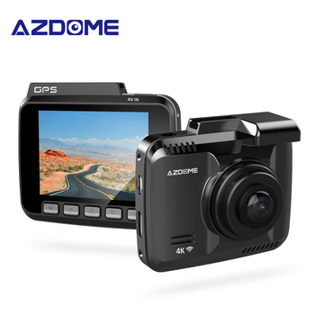 AZDOME GS63H 4K 1080P Registrar 2.4 inch LCD Screen Dash Cam Built in GPS Speed Coordinates WiFi DVR Dual Lens Video Recorder image