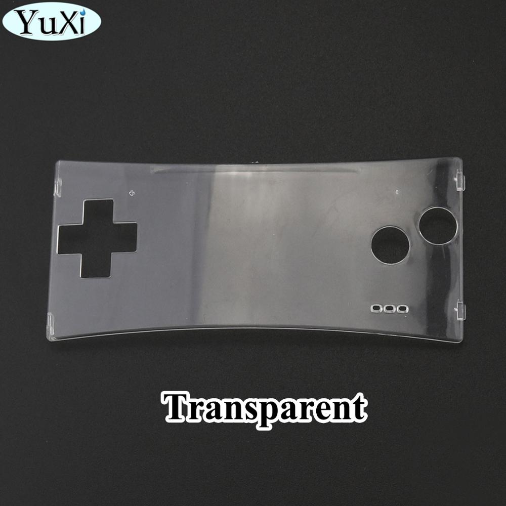 YuXi Clear Repair Front Shell Faceplate <font><b>Case</b></font> for Nintend for Gameboy Micro for <font><b>GBM</b></font> Front Panel image