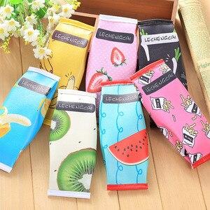 Image 3 - Super Sale Fruit Cake Macaroon Cookie Koran Japanese Pencil Pouch Case Bag School Makeup School Supplies Stationery